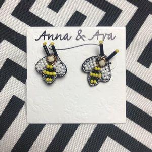 •Anna & Ava• Bee beaded earrings